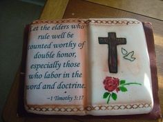 30 Happy Birthday Wishes for Pastor Happy Birthday Woman, Birthday Wishes For Women, Happy Birthday Wishes, Birthday Greetings, Open Book Cakes, Pastor Appreciation Day, Bible Cake, Religious Cakes, 60th Birthday Cakes