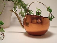 Vintage Little Copper and Brass Watering Can