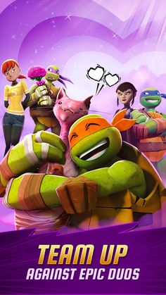 Love being a Turtle with the newest update! - FINDING ROMANCE: Team up in pairs to battle 2V2 in a Limited-Time Event. Battle against epic duos and earn their DNA! - FIGHTING BROMANCE: Take on the biggest and baddest bromance! Battle Traag and...