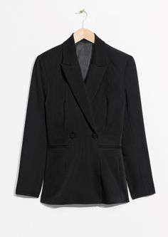 & Other Stories image 1 of Waisted Blazer in Black