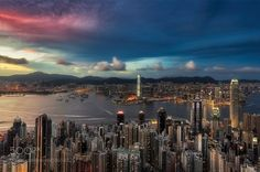 Hong Kong after sundown by famasse #architecture #building #architexture #city #buildings #skyscraper #urban #design #minimal #cities #town #street #art #arts #architecturelovers #abstract #photooftheday #amazing #picoftheday