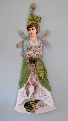 Victorian fairy with frog