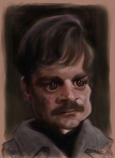 Caricatura de Omar Sharif como Dr. Zhivago.