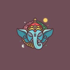 Ganesha- navamsa.ru #logo #ganesha #hindu #indian #illustration #vector #art #inspiration #photooftheday #god #picoftheday #cute #elephant #animals #designer #planet #space #sun #moon #branding #colorful #culture