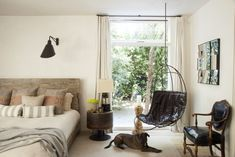 Patrick Dempsey's rustic Malibu bedroom is the perfect end of day oasis