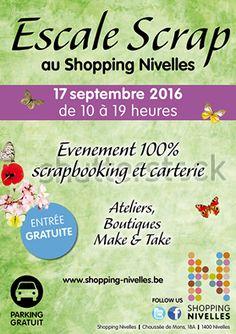 Les ateliers de Anou seront présents à Escale Scrap au shopping de Nivelles ce…