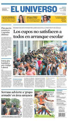 Portada de #DiarioELUNIVERSO del 6 de mayo del 2014. Las #noticias de #Ecuador y el mundo en: www.eluniverso.com