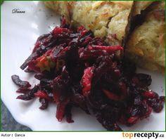 Červená řepa s jablky a balzamikem Beets, Cabbage, Paleo, Vegetables, Recipes, Food, Meal, Eten, Beach Wrap