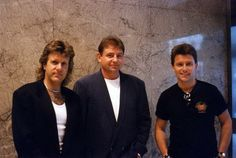 Emerson Lake and Palmer in June of 1992 after their interview on NYC's WNEW-FM radio. Rock Music, My Music, Van Der Graaf, Psychedelic Bands, Emerson Lake & Palmer, Greg Lake, King Crimson, Jethro Tull, Rock Groups