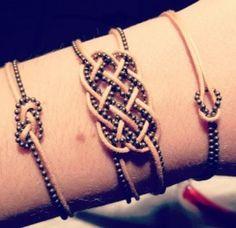 Eternity knot with ball chain & round cordage  #handmade #jewelry #knotting