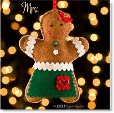 DIY Felt Mr. & Mrs. Gingerbread Couple Ornaments