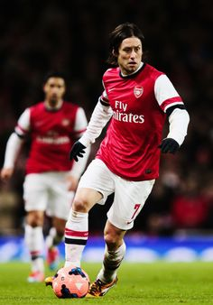 Rosicky in FA Cup Match vs Spurs 2013-2014.