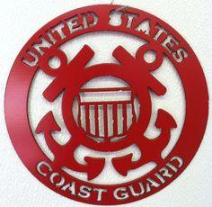 Metal coast guard sign