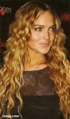 Lindsay Lohan's Strawberry Blonde Mermaid Hair