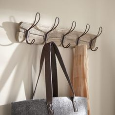 Found it at Birch Lane - Barn Coat Rack - Coat Hook rack for drop zone. We would want blocking in the wall there to mount this as sturdy as possible. Neiman Marcus Home, Cheap Home Decor, Diy Home Decor, Coastal Decor, Decor Crafts, Fall Entryway, Entryway Ideas, Entryway Furniture, Furniture Ideas