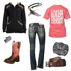 Country girl outfit, with a different pair of boots and yes its complete!