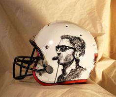 football coach kliff kingsbury art helmet sharpie paint pen on spray. Black Bedroom Furniture Sets. Home Design Ideas