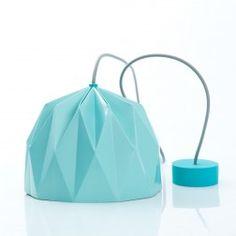 Lampada a sospensione Origami Turchese