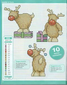 Esquemas de Ponto de Cruz Cross Stitch Christmas Cards, Xmas Cross Stitch, Cross Stitch Love, Cross Stitch Cards, Cross Stitch Animals, Cross Stitch Designs, Cross Stitching, Cross Stitch Embroidery, Cross Stitch Patterns