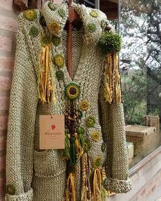 Form Crochet, Knit Crochet, Crochet Jacket, Funky Fashion, Crochet Fashion, Needlework, Knitwear, Pullover, Wool