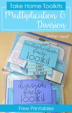 Free math facts take home kits to help your upper elementary students master their multiplication and division facts, without taking up classroom time,