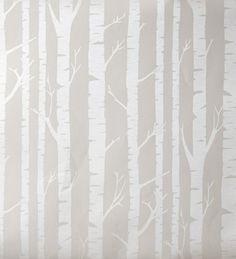 Papel pintado infantil con troncos de árboles tonos tostado - 2020623