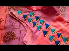 Hi friends, In this video I have shared new and simple hand embroidery for stitched blouses. This will suit for Kurthi and chudithars also. Embroidery On Kurtis, Hand Embroidery Dress, Kurti Embroidery Design, Flower Embroidery Designs, Simple Embroidery, Embroidered Blouse, Embroidery Stitches, Embroidery Patterns, Kalamkari Blouse Designs