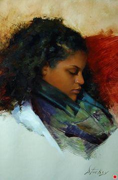 Silk Scarf by Kyle Stuckey Oil ~ 14 x 10