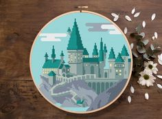 Designing Your Own Cross Stitch Embroidery Patterns - Embroidery Patterns Modern Cross Stitch Patterns, Counted Cross Stitch Patterns, Cross Stitch Designs, Cross Stitch Embroidery, Embroidery Patterns, Loom Patterns, Hand Embroidery, Hogwarts, Totoro