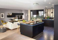 Une cuisine salon design