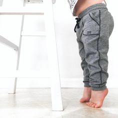 {Mini At Ease Joggers, Heather Grey} on this little cutie #nicoledigiacobbe | @albionfit