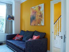 Paint Color Portfolio: Sunny Yellow  Living Rooms