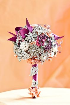 Image detail for -Ivory Floral Brooch Bouquet