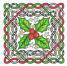 Zentangle Christmas Patterns | ... Tags: christmas 15 holly celtic challenge zentangles creativedoodling
