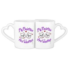 "#""My Besties Are Westies"" BOY AND GIRL Mugs - #cute #gifts #cool #giftideas #custom"