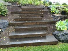 Sliced Basalt columns steps