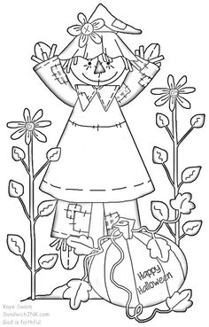 143 best scarecrows images on Pinterest in 2018 | Coloring books ...