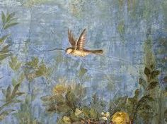 Image of a fresco from the garden room National Museum of Rome (Palazzo Massimo alle Terme) from Scottish artist Lisa's  agnesandcora.com website