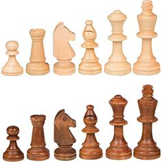 Gugertree Wood Weighted Chess Pieces  Pieces Only  No Board  35 Inch King *** Read more  at the image link.