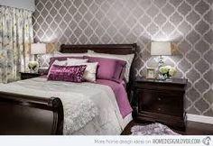 silver black purple bedroom - Buscar con Google