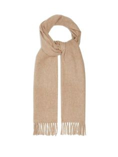 Raey Fringed Wool-Blend Scarf Only Fashion, Cashmere Scarf, Who What Wear, Womens Scarves, New Outfits, Wool Blend, Women Wear, Beige, How To Wear