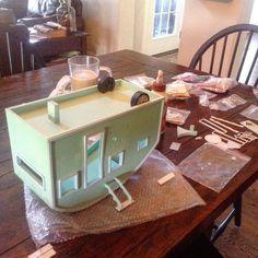 diy miniature tiny trailer dollhouse, crafts