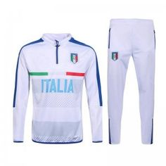 Italy National Team Euro 2016 White Soccer Tracksuit  G25  Football  Uniforms 65d41ab6835ad
