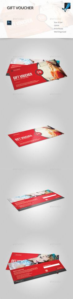 Gift Voucher - PSD Template • Only available here ➝ http://graphicriver.net/item/gift-voucher/13702317?ref=pxcr