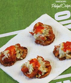 Game Day Buffalo Chicken Bites on Pretzel Crisps
