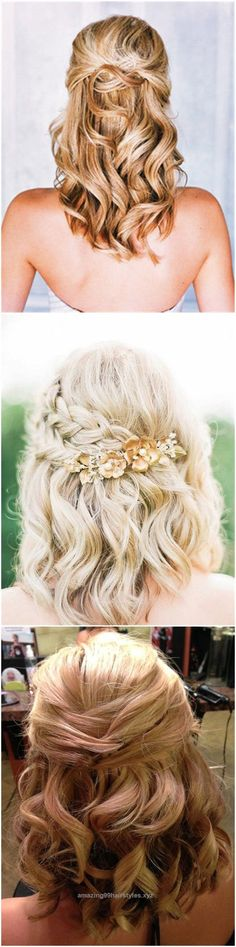 Marvelous Wedding Hairstyles » 24 Lovely Medium-length Hairstyles For Fall Weddings » ❤️ See more: www.weddinginclud… The post Wedding Hairstyles » 24 Lovely Medium-length Hairstyle ..