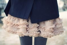 ruffles & wooly tights- winter heaven!