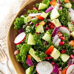 22 Refreshing and Delicious Cucumber Salads: Kale Salad