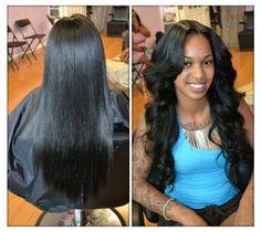 Beautiful transition from straight to wavy/curly.