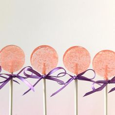 Beautiful Pink lollipops! 1/2 dozen $12 by Lollituki Sweets!